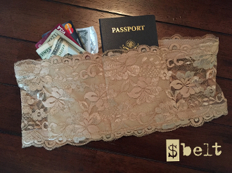 Luxurious, 5-inch lace is used to create the ultimate money & valuable concealment garment. Pockets are lined with both a waterproof material as well as a radio frequency (RF) blocking material to protect your money & digital information.